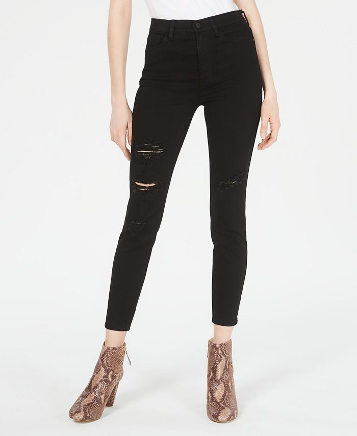 Celebrity Pink - Juniors' High-Rise Distressed Skinny Jeans