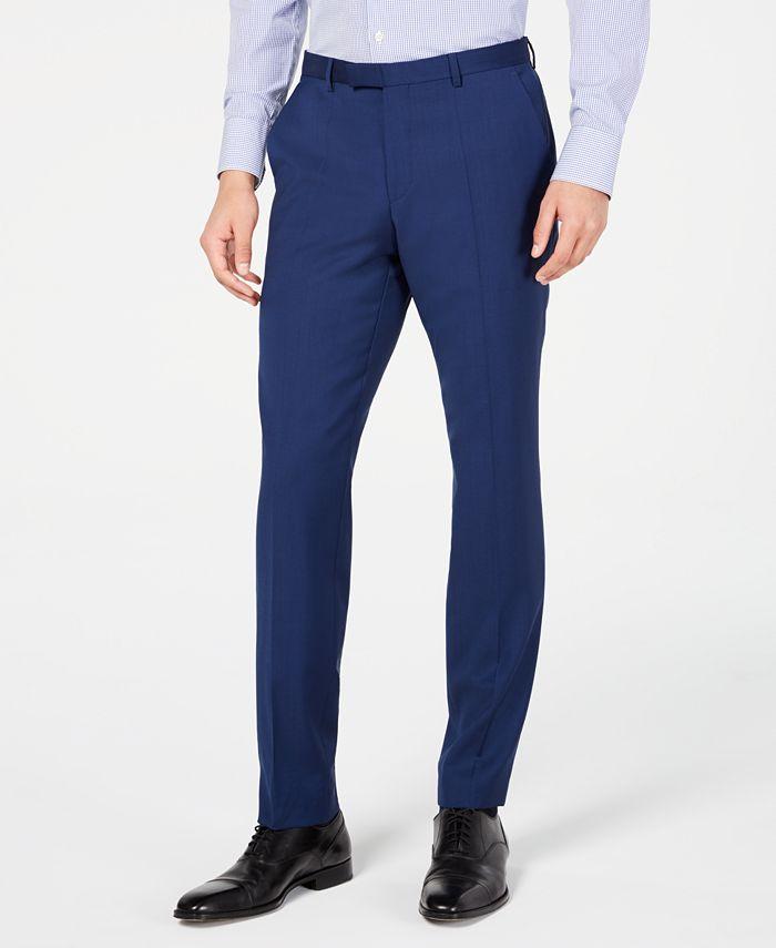 HUGO - Men's Modern-Fit Stepweave Suit Pants