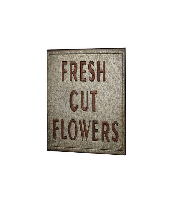 Rosemary Lane Farmhouse Fresh Cut Flowers Plate Wall Decor