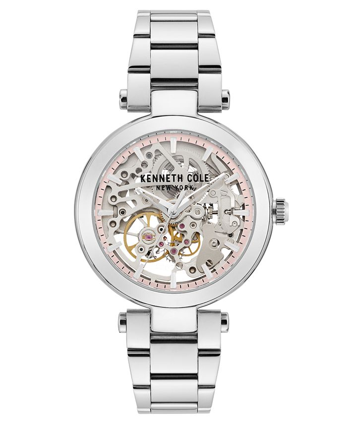 Kenneth Cole New York - Ladies' Stainless Steel Bracelet with Skeleton Automatic Dial, 38MM