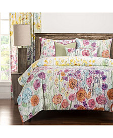 Siscovers Whimsical Wildflowers 6 Piece Queen Luxury Duvet Set