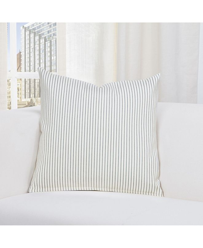 "Revolution Plus Everlast Stripe Fog 26"" Designer Euro Throw Pillow"