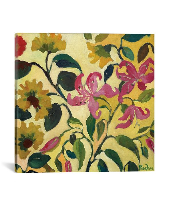 "iCanvas ""Pink Lilies"" By Kim Parker Gallery-Wrapped Canvas Print - 12"" x 12"" x 0.75"""