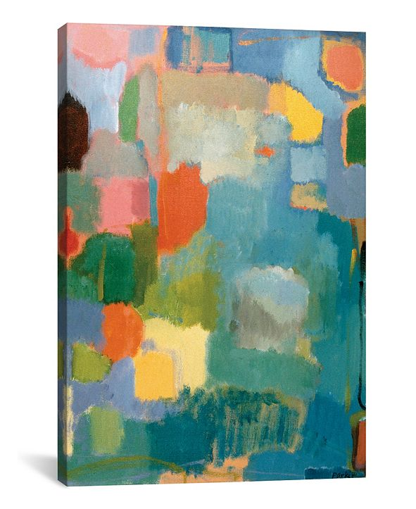 """iCanvas """"Color Essay In Turquoise"""" By Kim Parker Gallery-Wrapped Canvas Print - 26"""" x 18"""" x 0.75"""""""