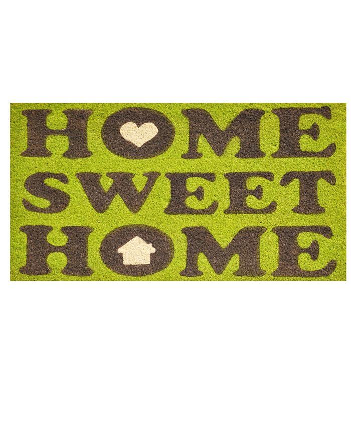 """Home & More - Home Sweet Home 17"""" x 29"""" Coir/Vinyl Doormat"""