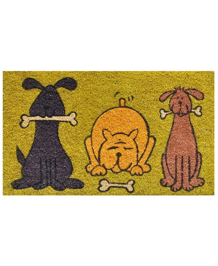 """Home & More - Doggie Fun 17"""" x 29"""" Coir/Vinyl Doormat"""