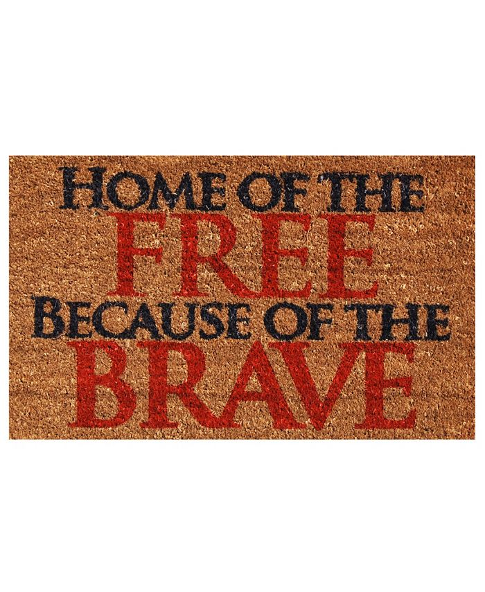 "Home & More - Home of the Free 17"" x 29"" Coir/Vinyl Doormat"