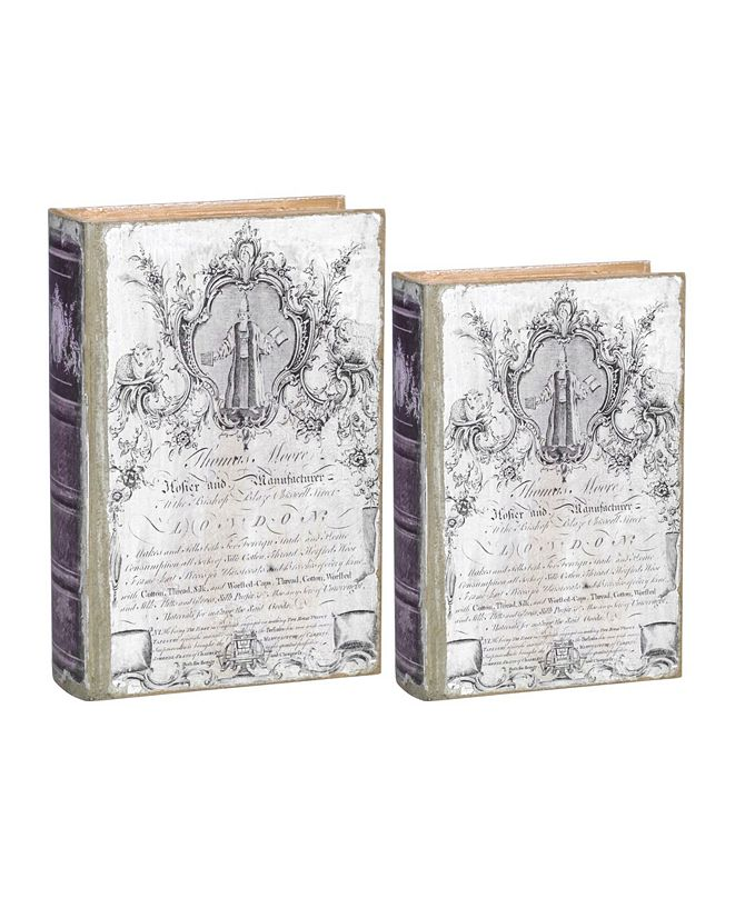 AB Home Thomas Moore Book Boxes, Set of 2