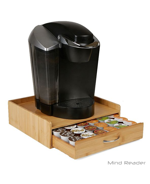 Mind Reader K-Cup Single Serve Coffee Pod Storage Drawer with Lip Panel, 36 Capacity