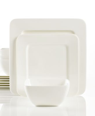 Hotel Collection Dinnerware, Bone China Square 12 Piece Set