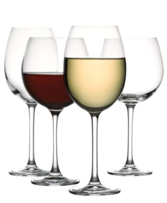 The Cellar Glassware, Set of 8 Premium Red & White Wine Glasses
