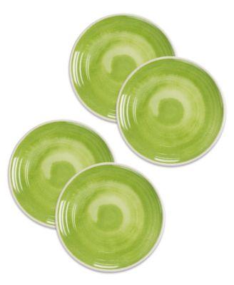 """Raku Green Dinner Plate, 10.5"""", Melamine, Set of 6"""
