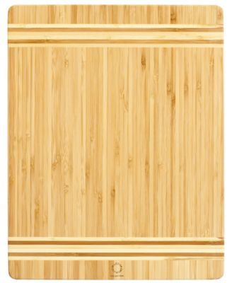 Martha Stewart Collection Bamboo Cutting Board 10 x 14 Two Tone