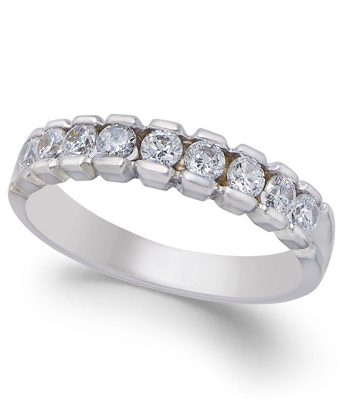 Macy's - Diamond Band (1/2 ct. t.w.) in 14k White Gold