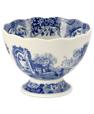 Dinnerware, Blue Italian Footed Bowl