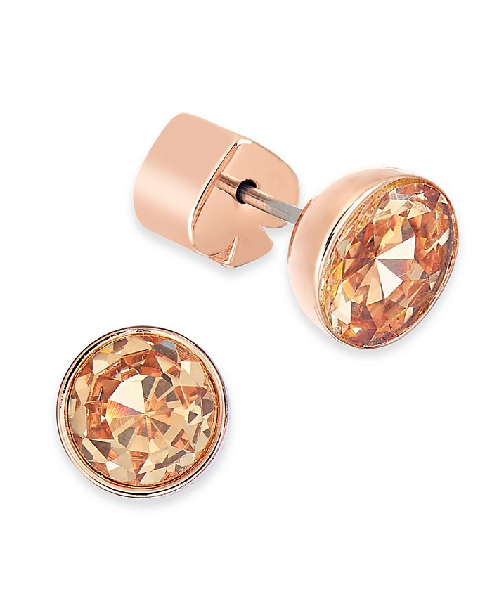 kate spade new york - Gold-Tone Stainless Steel Colored Crystal Stud Earrings