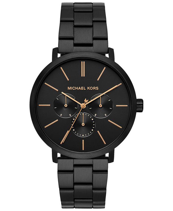 Michael Kors - Men's Blake Black Stainless Steel Bracelet Watch 42mm
