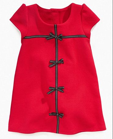 So La Vita Girls Dress, Little Girls Ponte Bow Dress - Kids Special Occasion - Macy's