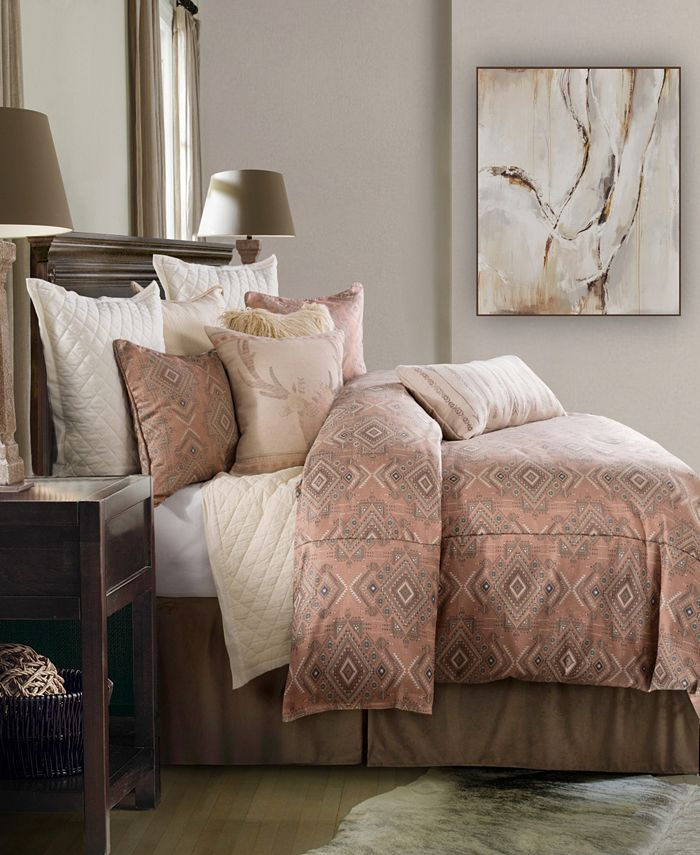 HiEnd Accents - Sedona 3 PC Comforter Set, Super Queen by