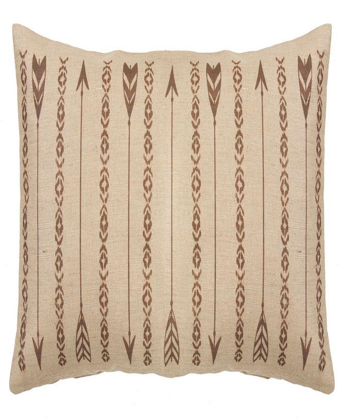 HiEnd Accents - Long Rectangles and Arrows Burlap Pillow, 15x35