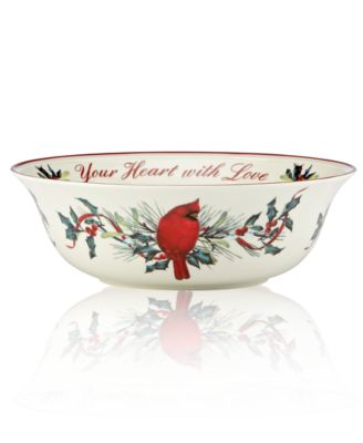 Lenox Serveware, Winter Greetings Fill Your Home with Joy Bowl