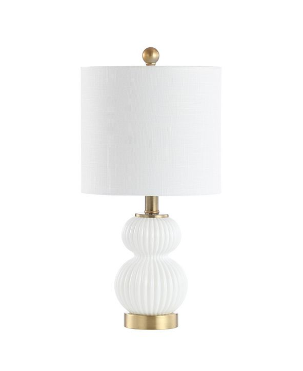 "JONATHAN Y Daphne 20"" Ribbed LED Table Lamp"