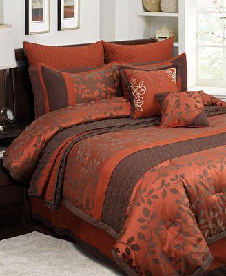 Brown bedding sets queen - Alfa Img Showing Gt Orange And Brown Comforter