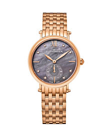 Alexander Watch AD201B-04, Ladies Quartz Small-Second Watch with Rose Gold Tone Stainless Steel Case on Rose Gold Tone Stainless Steel Bracelet