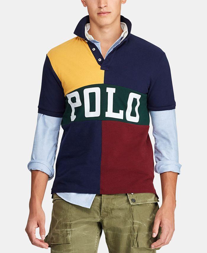 Polo Ralph Lauren Men's Classic-Fit Color Block Mesh Polo Shirt ...