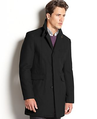 Kenneth Cole Coat, Wool-Blend Walking Coat