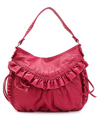Red by Marc Ecko Handbag, Dusk Till Dawn Ruffled Hobo Bag