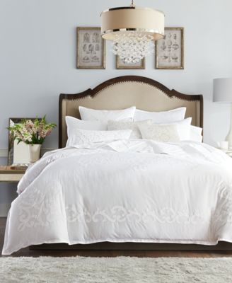 Classic Scroll Appliqué Cotton Standard Sham, Created for Macy's