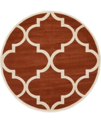 Arbor Arb3 Rust Red 6' x 6' Round Area Rug