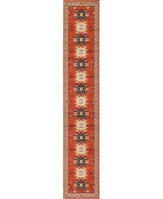 """Charvi Chr1 Terracotta 3' x 16' 5"""" Runner Area Rug"""