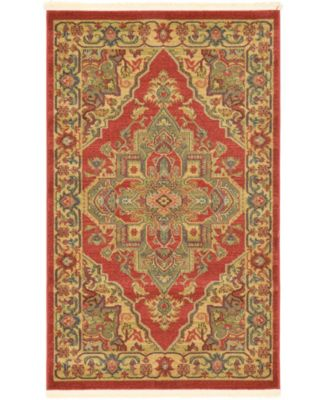 "Harik Har9 Red 3' 3"" x 5' 3"" Area Rug"