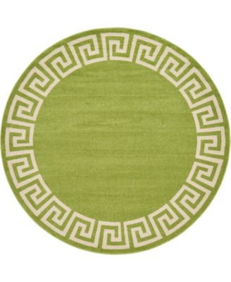 Anzu Anz2 Light Green 8' x 8' Round Area Rug