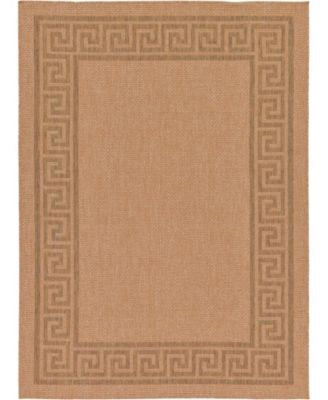 "Pashio Pas6 Light Brown 7' x 9' 7"" Area Rug"