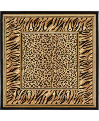 Maasai Mss9 Light Brown 6' x 6' Square Area Rug