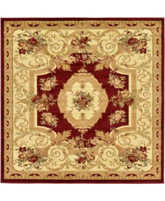 Belvoir Blv3 Red 6' x 6' Square Area Rug
