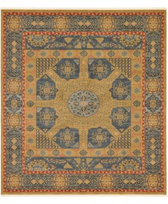 "Wilder Wld3 Navy Blue 10' x 11' 4"" Square Area Rug"