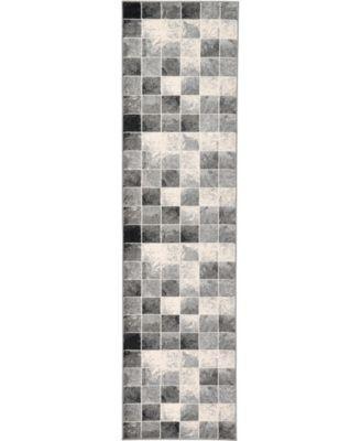 "Maasai Mss1 Light Gray 2' 7"" x 10' Runner Area Rug"