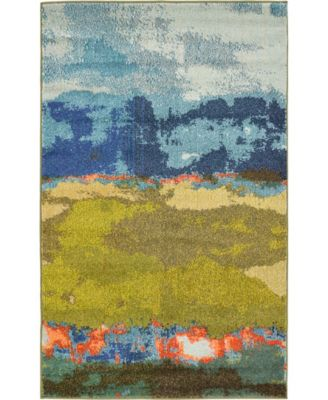 Newwolf New5 Blue 9' x 12' Area Rug