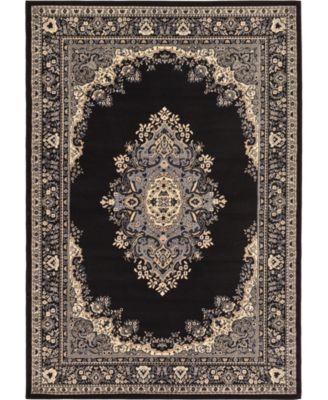 Birsu Bir1 Black 6' x 9' Area Rug
