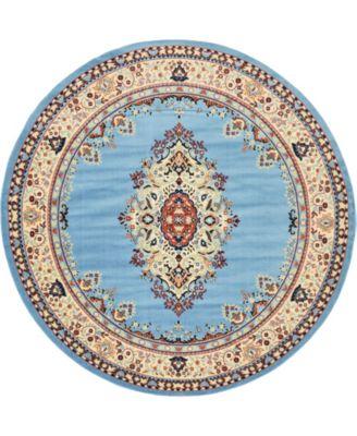 Birsu Bir1 Light Blue 8' x 8' Round Area Rug