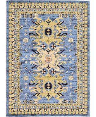 Charvi Chr1 Light Blue 7' x 10' Area Rug