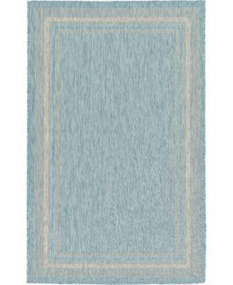 Pashio Pas5 Aquamarine 5' x 8' Area Rug