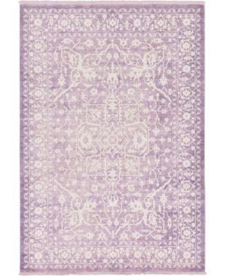 Norston Nor1 Purple 7' x 10' Area Rug