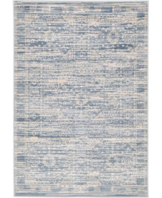 Caan Can3 Blue 5' x 8' Area Rug