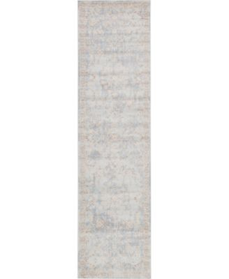 "Caan Can7 Light Blue 2' 7"" x 10' Runner Area Rug"