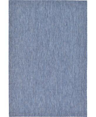 Pashio Pas6 Navy Blue 6' x 9' Area Rug